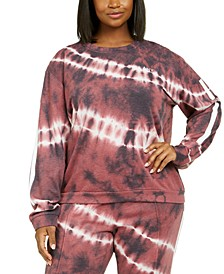 Trendy Plus Size Tie-Dye Zip-Back Sweatshirt