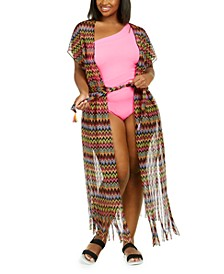 Plus Size Carnavale Crochet Duster Cover Up