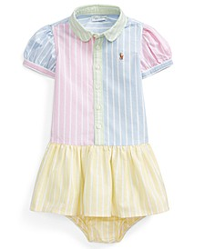 Baby Girls Cotton Shirtdress & Bloomer