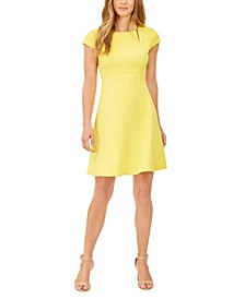 Janet Textured Fit & Flare Dress
