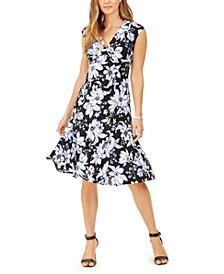 Julie Floral-Print Fit & Flare Dress