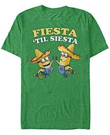 Minions Men's Fiesta Til Siesta Short Sleeve T-Shirt