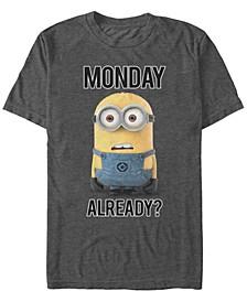 Minions Men's Bob Monday Already Short Sleeve T-Shirt