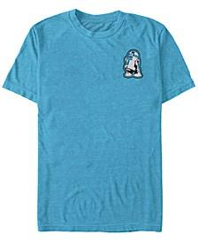 Star Wars Men's Small R2D2 Patch Short Sleeve T-Shirt