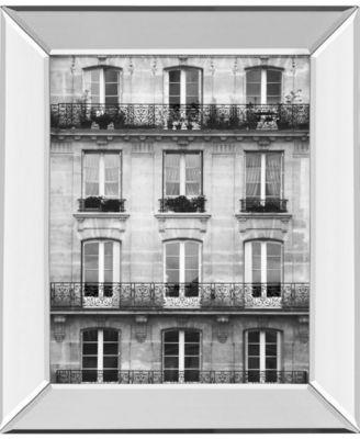Across The Street Il by Laura Marshall Mirror Framed Print Wall Art - 22
