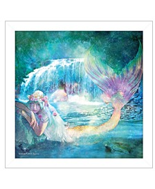 Trendy Decor 4u Woodland Cove Mermaid by Bluebird Barn, Ready to Hang Framed Print Collection