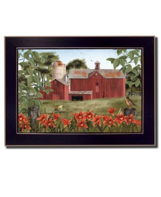 Summer Days By Billy Jacobs, Printed Wall Art, Ready to hang, Black Frame, 14