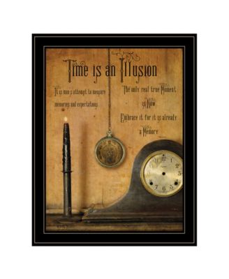 Time is an Illusion by Billy Jacobs, Ready to hang Framed Print, Black Frame, 21