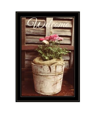 Welcome Roses by Anthony Smith, Ready to hang Framed Print, White Frame, 15