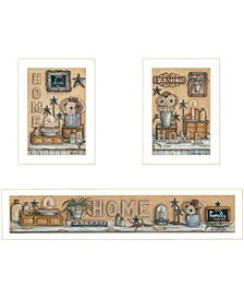 Trendy Decor 4u Where Family Friends Gather 3-piece Vignette by Mary Ann June Collection