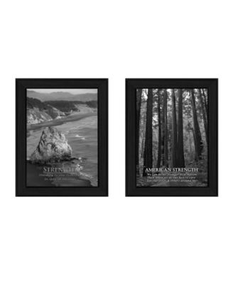 Strength Collection By Trendy Decor4U, Printed Wall Art, Ready to hang, Black Frame, 20