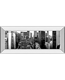 Panorama of NYC by Jeff Pica Mirror Framed Print Wall Art Collection
