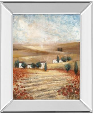 Hilltown Lanscanadian Art Prints Inc. E I by Rosie Abrahams Mirror Framed Print Wall Art, 22