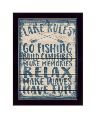 Lake Rules by Misty Michelle, Ready to hang Framed Print, White Frame, 15