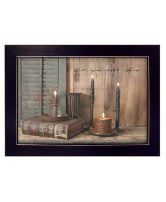 Let Your Light Shine By Billy Jacobs, Printed Wall Art, Ready to hang, Black Frame, 27