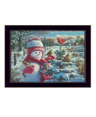 Snow Baby Grace By Kim Norlien, Printed Wall Art, Ready to hang, White Frame, 15