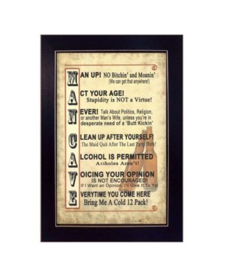 Man Up by Millwork Engineering, Ready to hang Framed Print, Black Frame, 11
