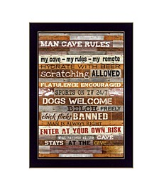 Trendy Decor 4U Man Cave Rules By Marla Rae, Printed Wall Art, Ready to hang Collection