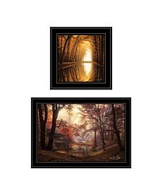 Trendy Decor 4U Nature's Reflections 2-Piece Vignette by Martin Podt Collection