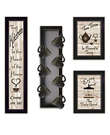 Trendy Decor 4U Kitchen Collection V 4-Piece Vignette with 7-Peg Mug Rack by Millwork Engineering Collection