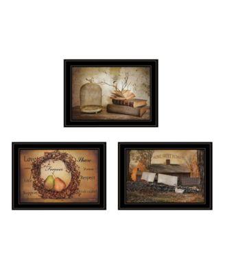 Primitives Homestead 3-Piece Vignette by Robin Lee Vieira, White Frame, 21