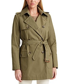 Cotton-Blend Double-Breasted Trench Coat