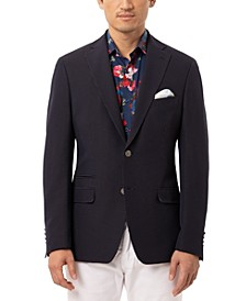 Orange Men's Slim-Fit Navy & White Dot Sport Coat