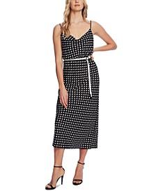 Dot-Print Sleeveless Dress