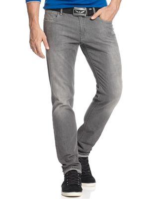 Armani Jeans Men's Slim-Fit Comfort Stretch Jeans, Grey Wash ...