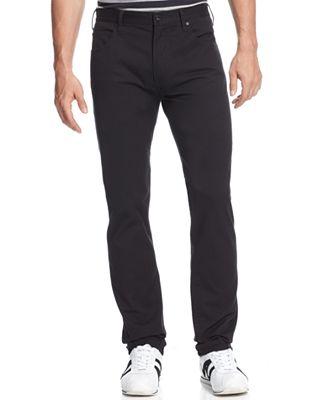 Armani Jeans Men's Straight-Leg Jeans, Black Wash - Jeans - Men ...