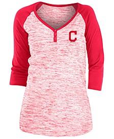Cleveland Indians Women's Space Dye Raglan Shirt