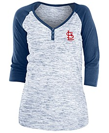 St. Louis Cardinals Women's Space Dye Raglan Shirt