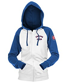 Chicago Cubs Women's Zip-Up Contrast Hoodie