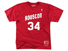 Houston Rockets Men's Hakeem Olajuwon Hardwood Print Player T-Shirt