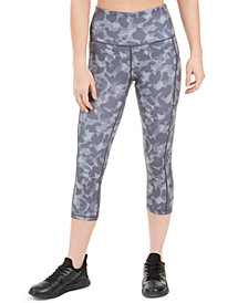 Ideology Camo-Print High-Waist Cropped Leggings, Created for Macy's