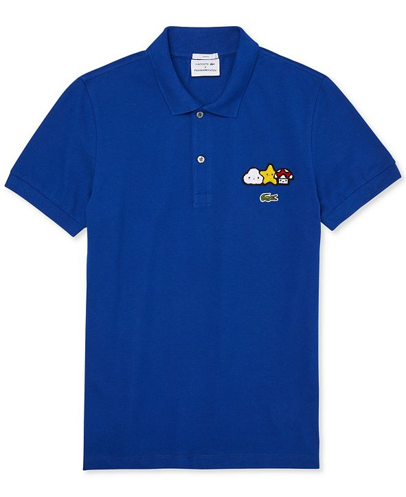 Lacoste Men's Croco Series FriendsWithYou Limited-Edition Polo with Cartoon Graphics