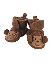 Baby Girls and Boys Monkey Cozy Fleece Booties