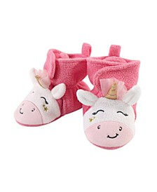 Baby Girls Unicorn Cozy Fleece Booties