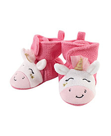 Hudson Baby Baby Girls Unicorn Cozy Fleece Booties