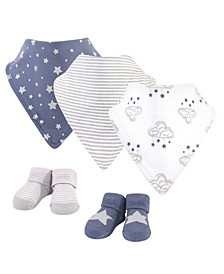 Baby Boys Cloud Mobile Bib and Sock Set, Pack of 5