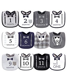 Baby Girls and Boys Brand New Terry Drooler Bibs with Fiber Filling, Pack of 10