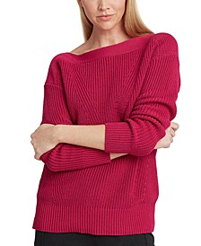 Ribbed Boatneck Top