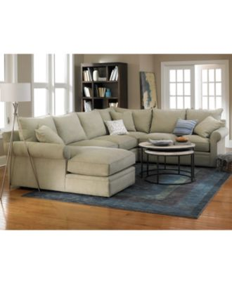 Doss Fabric Sectional Living Room Furniture Collection - Furniture