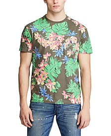 Men's Classic-Fit Tropical Print T-Shirt