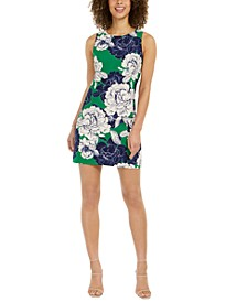 Petite Sleeveless Floral Shift Dress