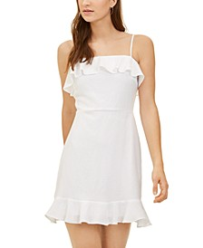 Juniors' Ruffle-Trim Dress