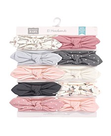 Baby Girls Paris and Synthetic Headbands, Pack of 10