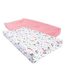 Baby Girls Woodland Fox Changing Pad Cover, Pack of 2