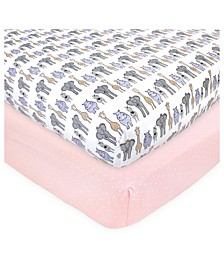 Baby Girls and Boys Safari Fitted Crib Sheet