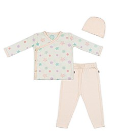 Baby Girls Snowflakes Kimono Set